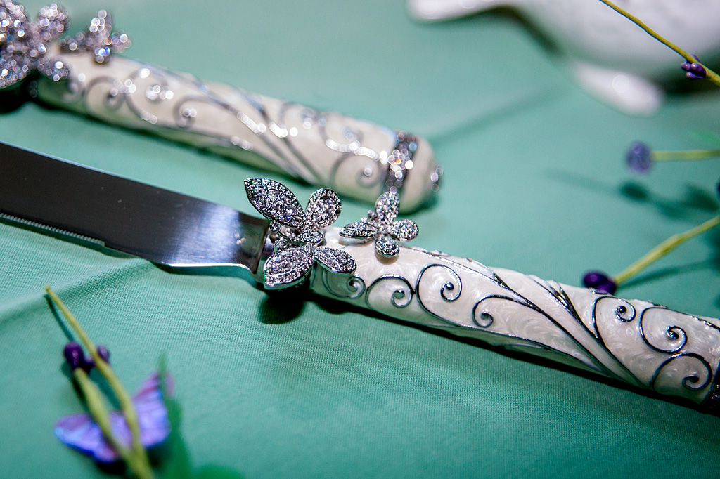 Butterfly cake knife, Altoona PA wedding photography