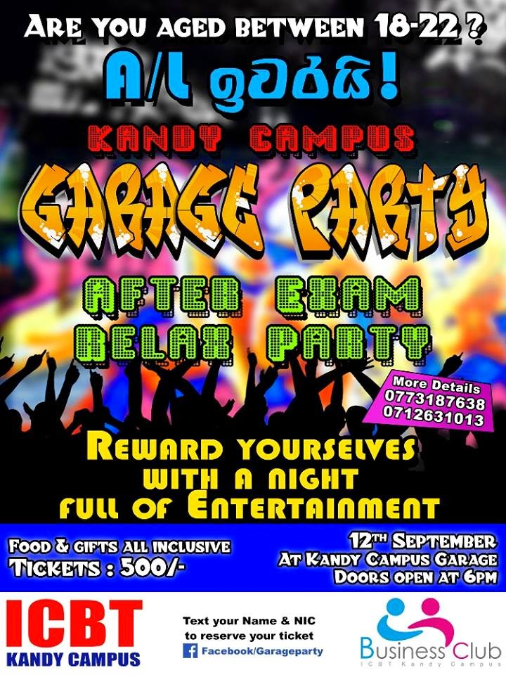 www.fb.com/garageparty