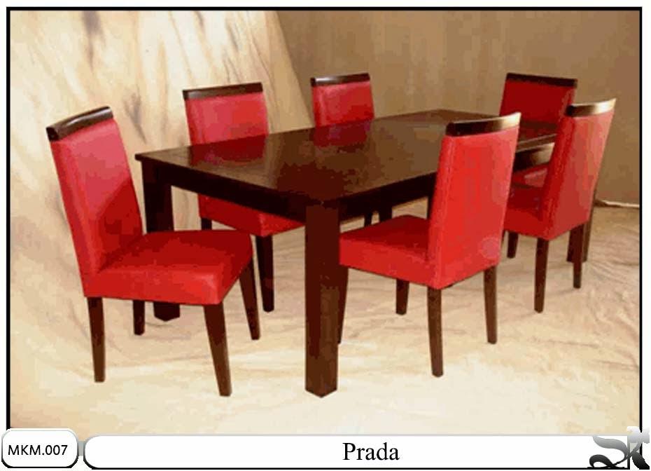 Set kursi & meja makan minimalis Prada