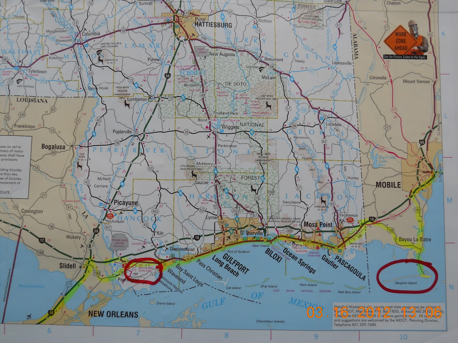 in case you have not figured it out yet i know always provide a legend with a map the yellow line is our route and the circles are where we have stayed