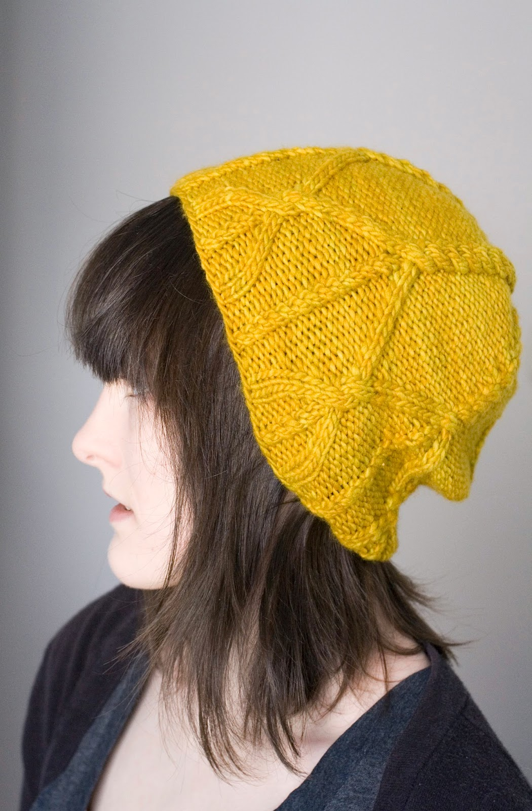 """Corone"" knit hat pattern by Alexandra Tinsley"