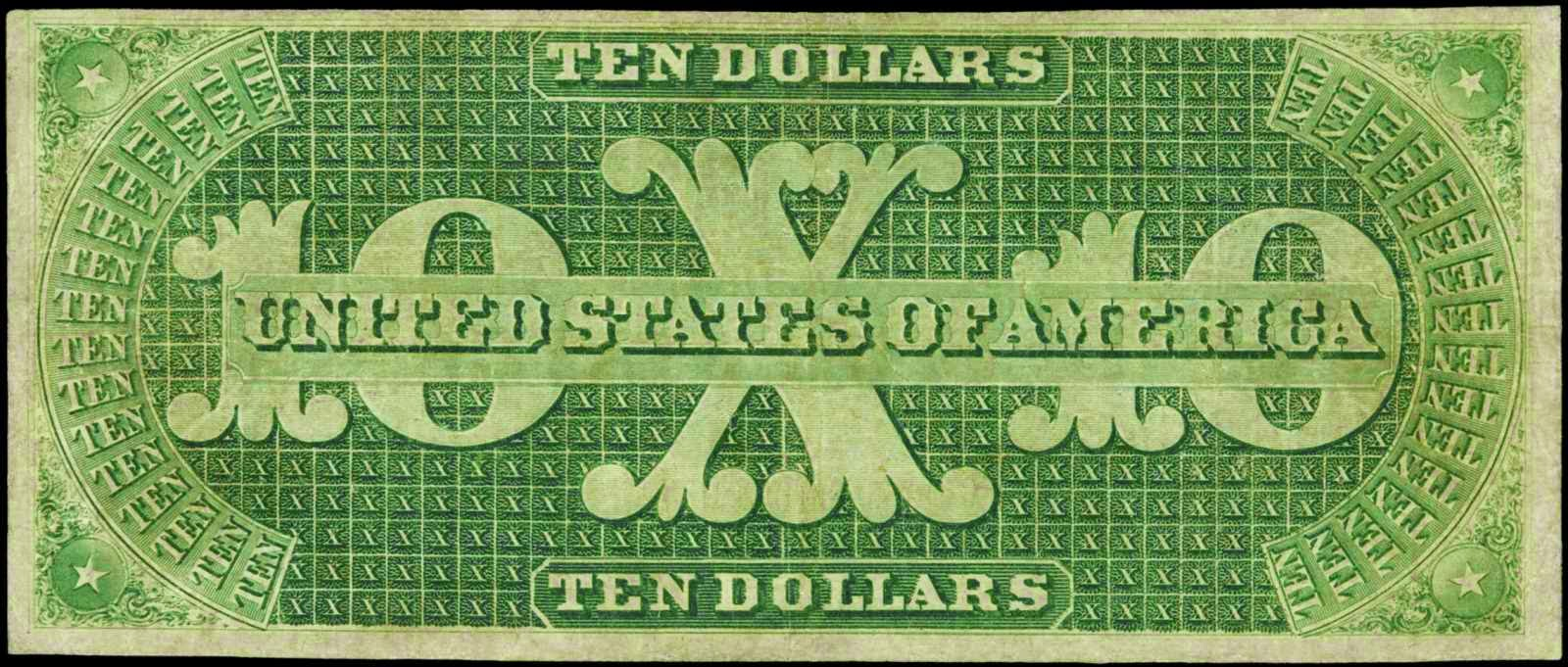 10 Dollar Demand Note Greenback