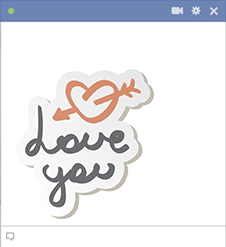 Love You FB Icon