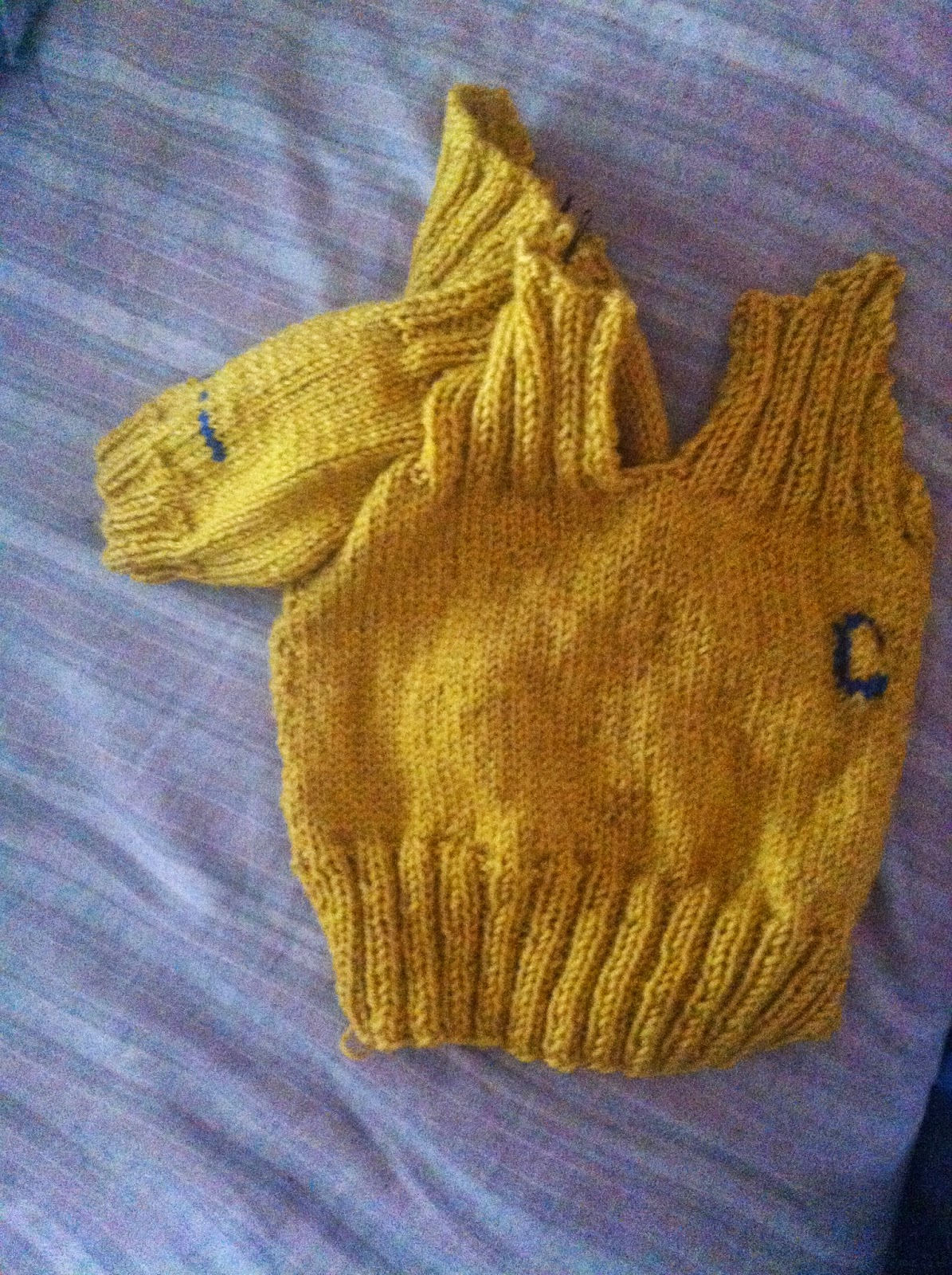 knitting vintage sweater