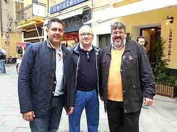 Alassio - Il presidente della Regione Liguria Giovanni TOTI , Fabio Lucchini e Angelo Vaccarezza