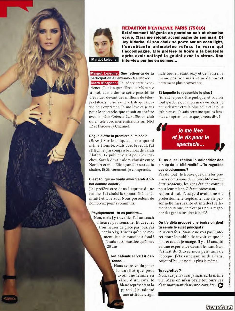Magazine Photoshoot : Clara Morgane Photoshot For Entrevue Magazine France January 2014 Issue