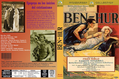 Carátula dvd: Ben-Hur 1925