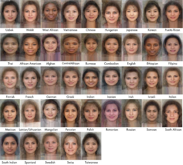 Average Faces of the Women of the World.