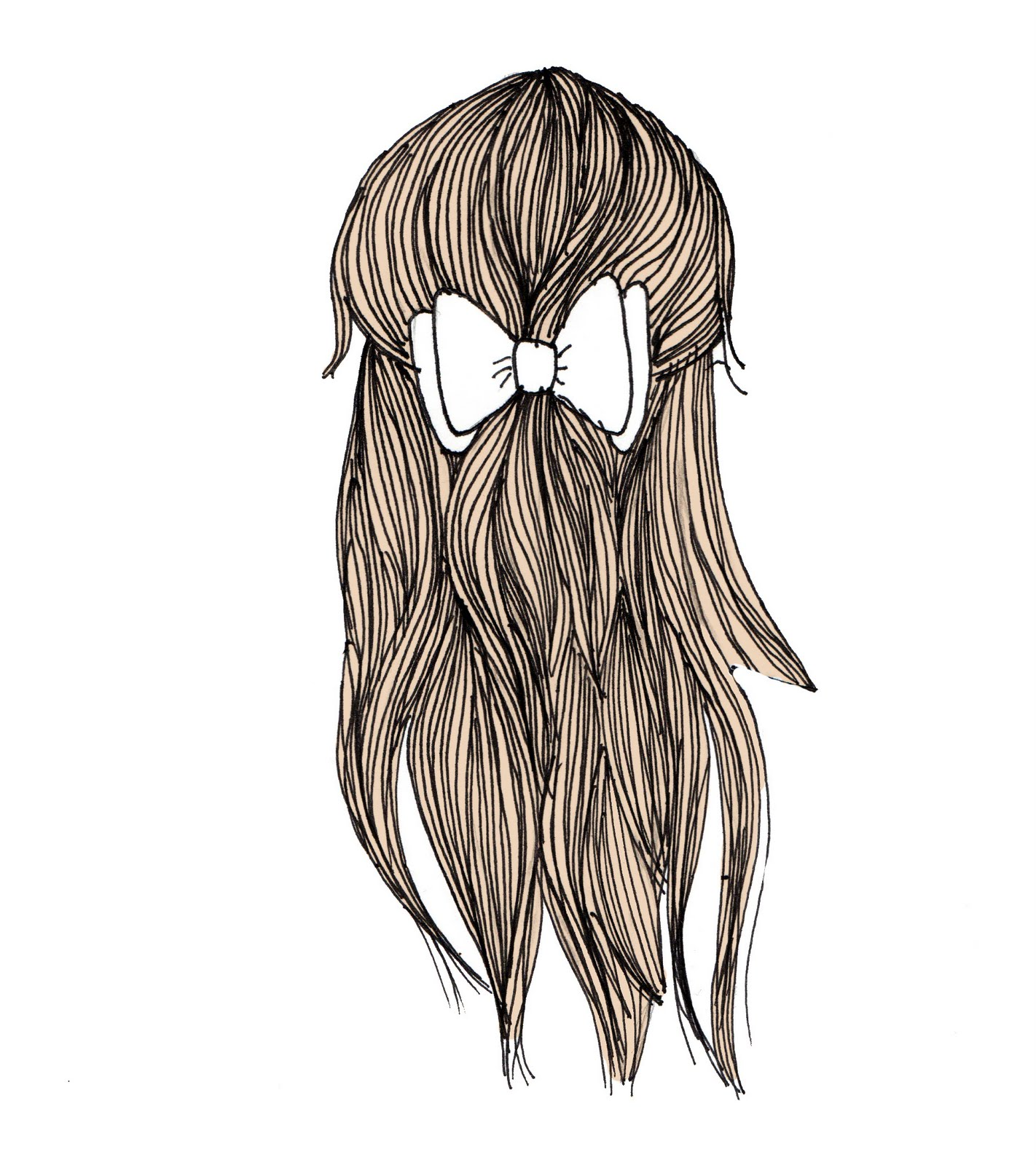 I can't think of a cool blog title: Drawing hair