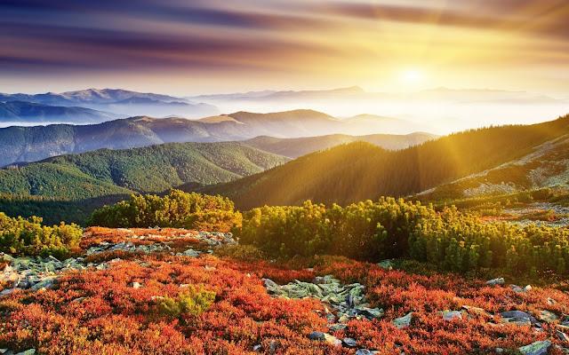 Imágenes gratis de Lindo Amanecer en las Montañas