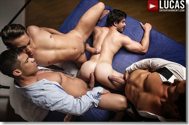 Lucas Entertainment Bareback Orgy!