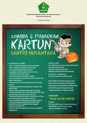 Lomba Kartun Santri Nusantara Hadiah 200 Juta, 5 November 2015