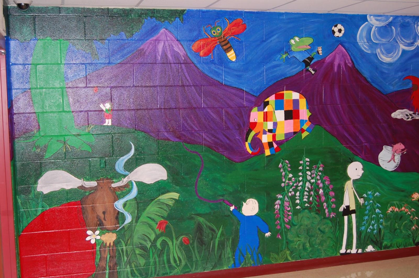 Coyne 39 s crazy fun preschool classroom murals brighten up for Classroom mural