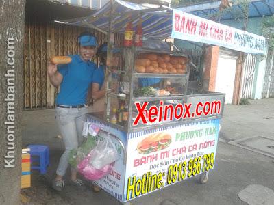 Xe bánh mì chả cá Phương Nam - Hóc Môn - TPHCM