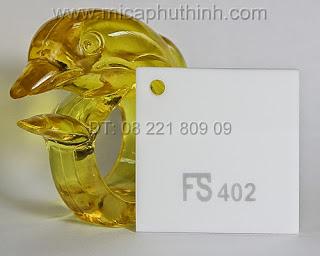 Mica màu trắng sứ FS 402