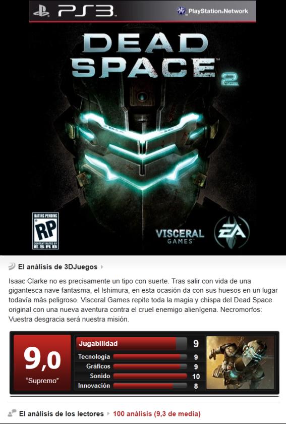 Dead Space 2 [Multi][3.55][PS3]
