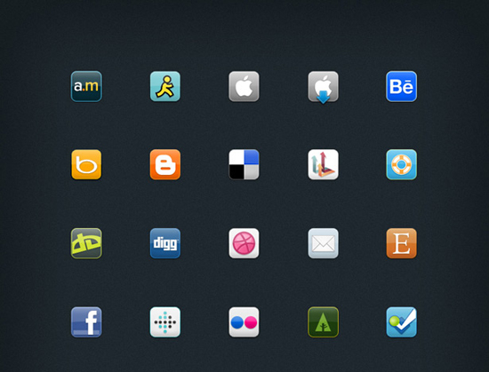 30+ Latest Free Flat Icon Sets For Your Use