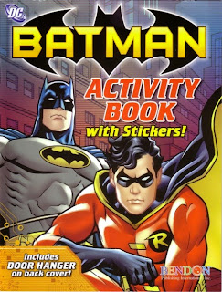 Front of Batman activity book with stickers