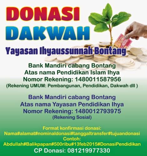 Donasi Yayasan Ihyaussunnah