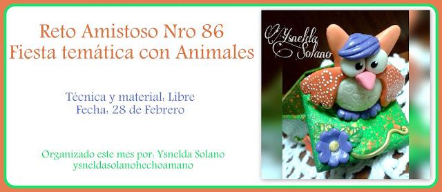 Reto Amistoso com Ysnelda Solano. Apresentação em 28/02/17.