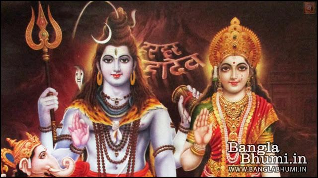 Lord Shiva & Maa Parvati Indian God 1366x768 Wide Wallpaper