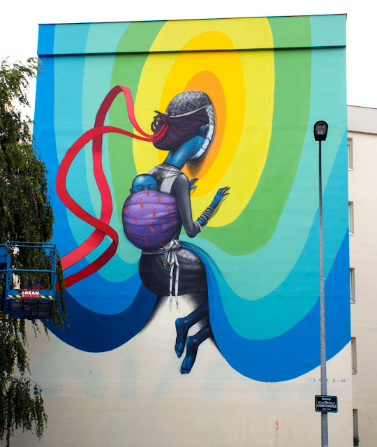 Street Art By Seth In Rennes, France For Teenage Kicks Urban Art Festival. 1