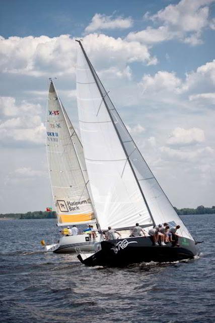 яхты на Киевском море