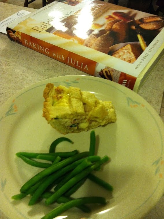 Pizza Rustica Served with Green Beans