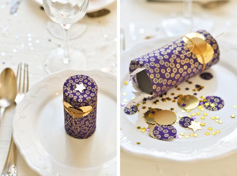 diynavidad tubos de confeti para la cena de nochebuena y nochevieja