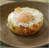 Egg Dishes For Breakfast; Baked Eggs Napoleon