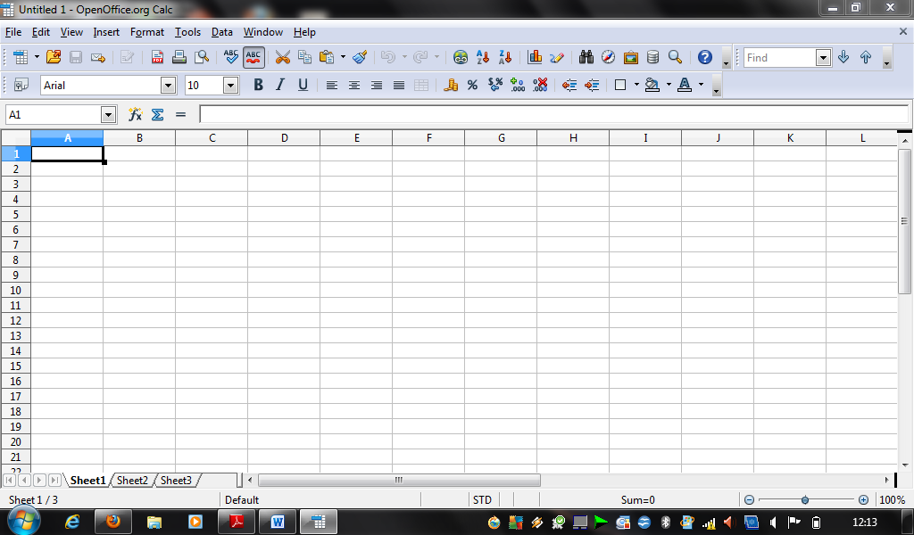 openoffice tutorial 1 - what is spreadsheet