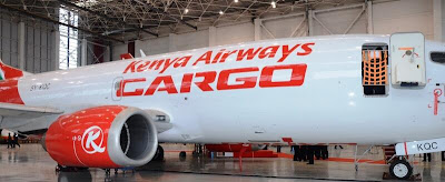 Kenya Airways latest modified 737-300 Freighter (KQ)
