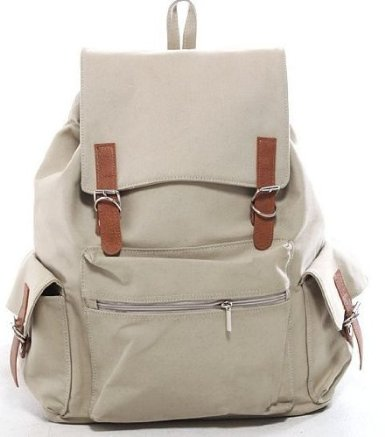 back pack off white canvas backpack school bag my bag. Black Bedroom Furniture Sets. Home Design Ideas