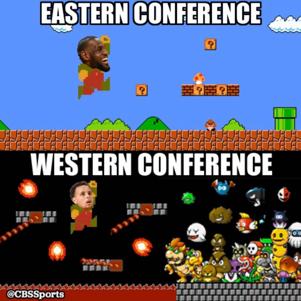 Eastern Conference vs Western Conference - #nba2015 #nba #curry #james #supermario #WesternConference #EasternConference