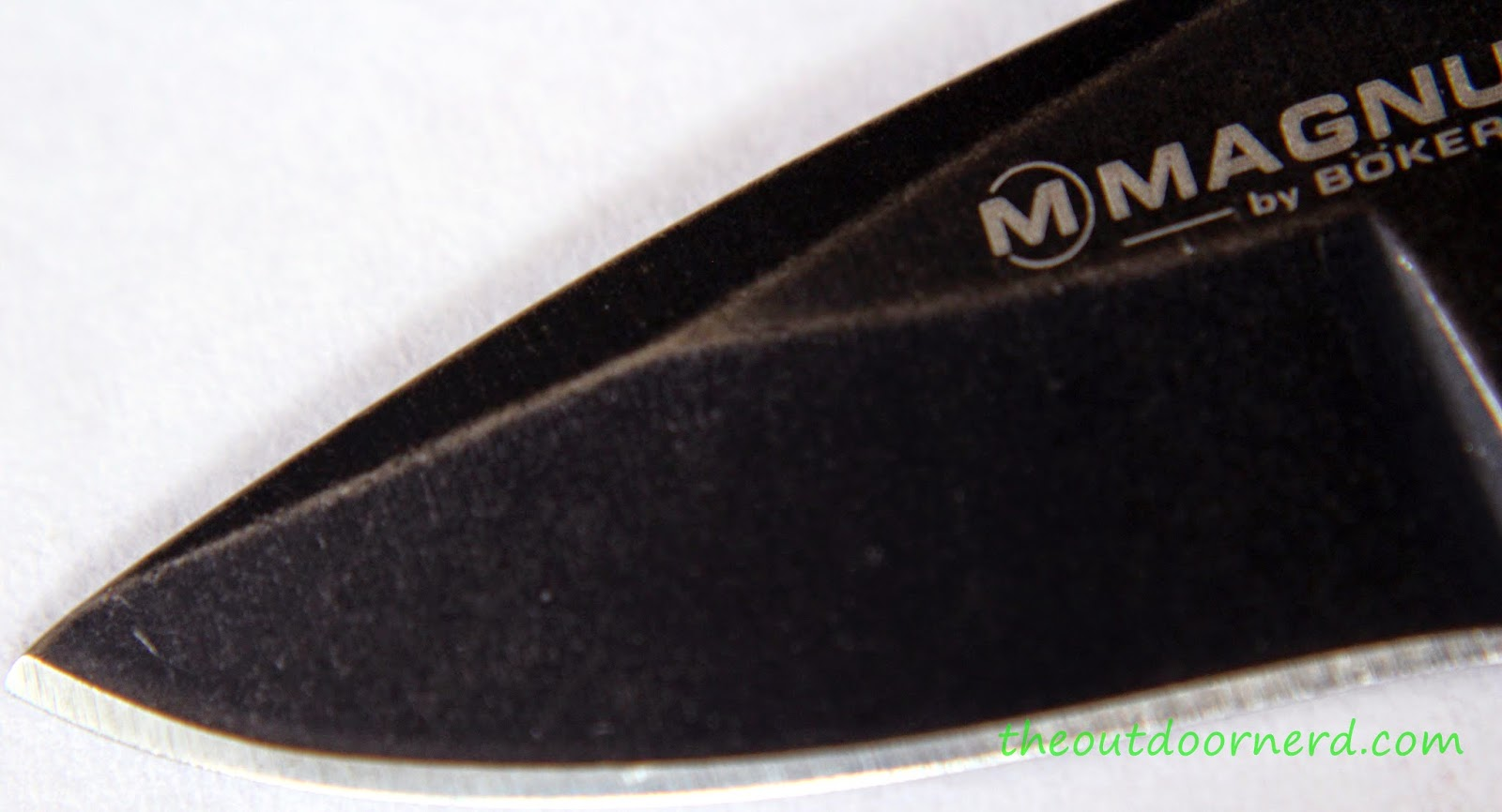 Boker Magnum 'Lil Friend' Arrowhead: Blade Tip Closeup