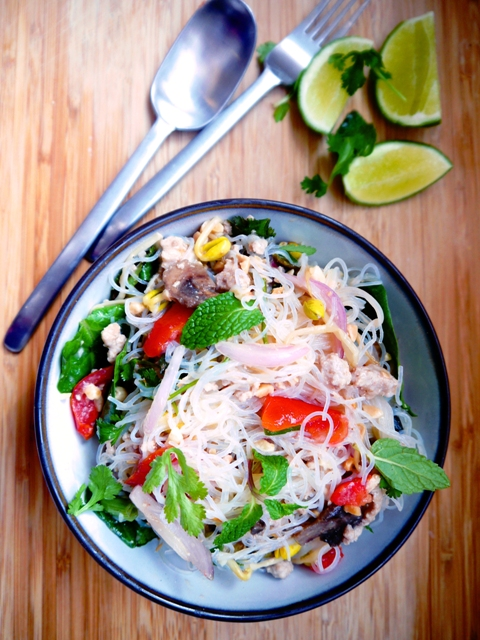 Yum Woon Sen - Spicy Thai Glass Noodles Salad 2 | Thailand Recipes