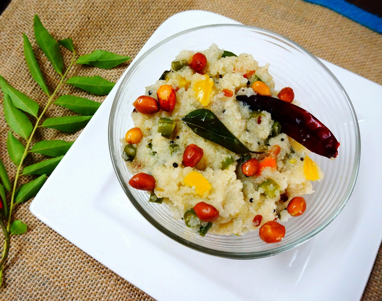 Vegetable upma, sooji upma