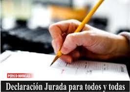 DECLARACIÓN JURADA DE CARGOS 2014