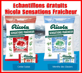 Échantillons Gratuits du Bonbon Croquant Ricola Sensations Fraîcheur