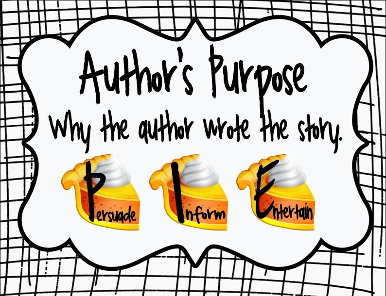 the picture book teacher's edition: the importance of author's purpose