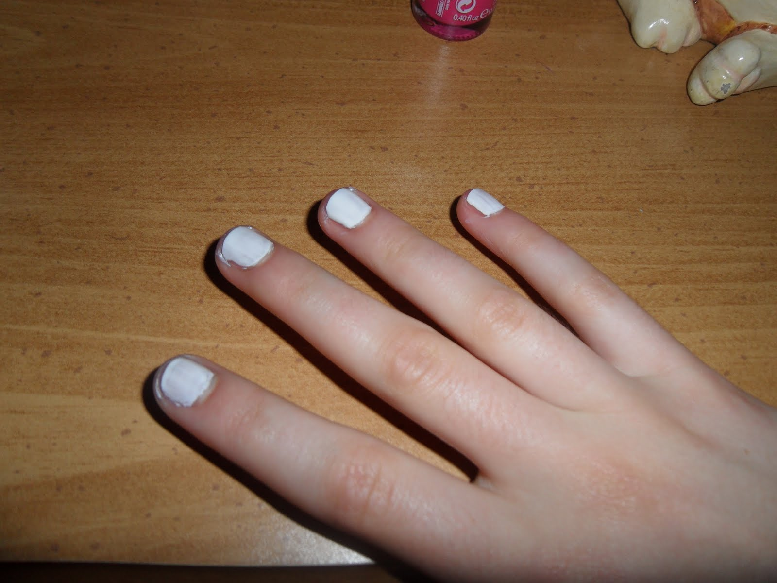 STEP 1 Apply Your Base Color Coat I Used White But Feel Free To Play Around With Colors Or Just Use A Clear Nail Polish