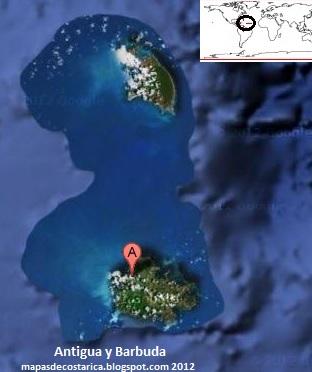 Antigua y Barbuda America  MAPAS DE