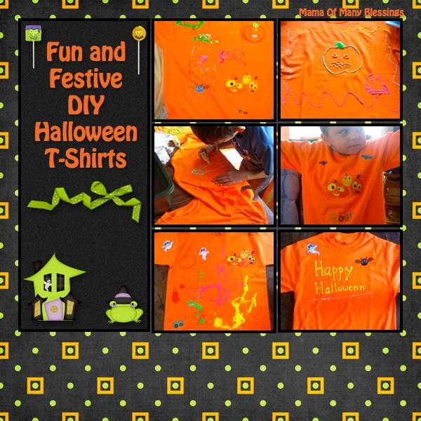 easy diy halloween t shirts - Homemade Halloween Shirts