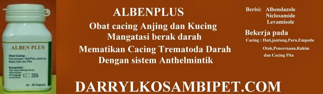 Albenplus-Obat Cacing -Mengatasi,Anjing/Kucing-Berak Darah