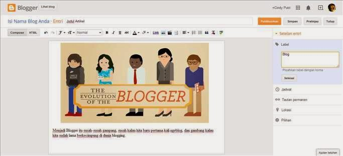 Cara Membuat Artikel di Blog gambar 3