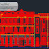 واجهة لقصر قديم اوتوكاد dwg