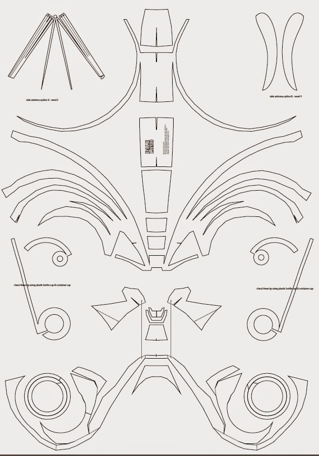 Dali lomo ultron costume helmet diy free template for Iron man suit template