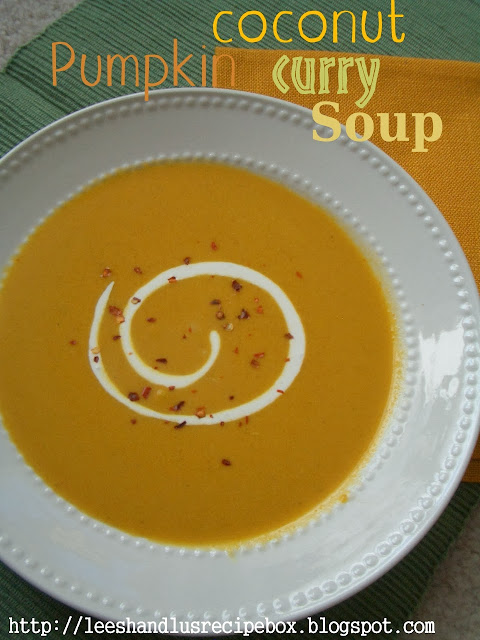 Pumpkin Coconut Curry Soup | Leesh and Lu's Recipe Box