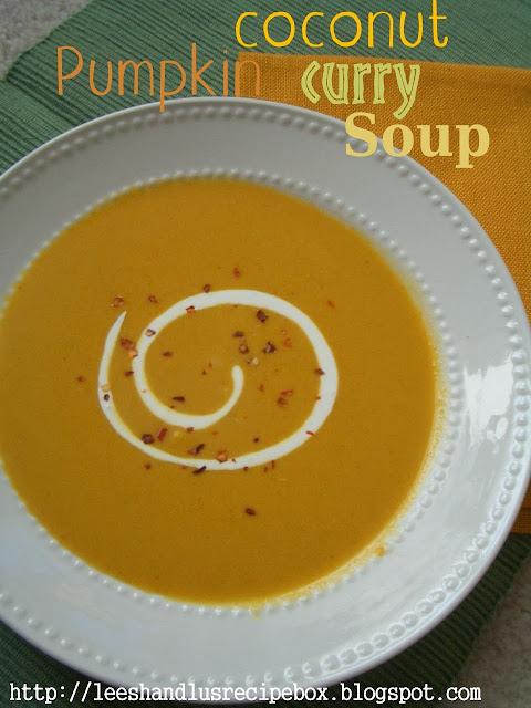 Pumpkin Coconut Curry Soup | Leesh and Lu's Recipe Box