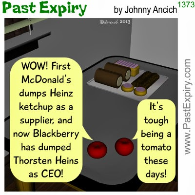 Cartoon about pun, food, business, restaurant, technology, news,